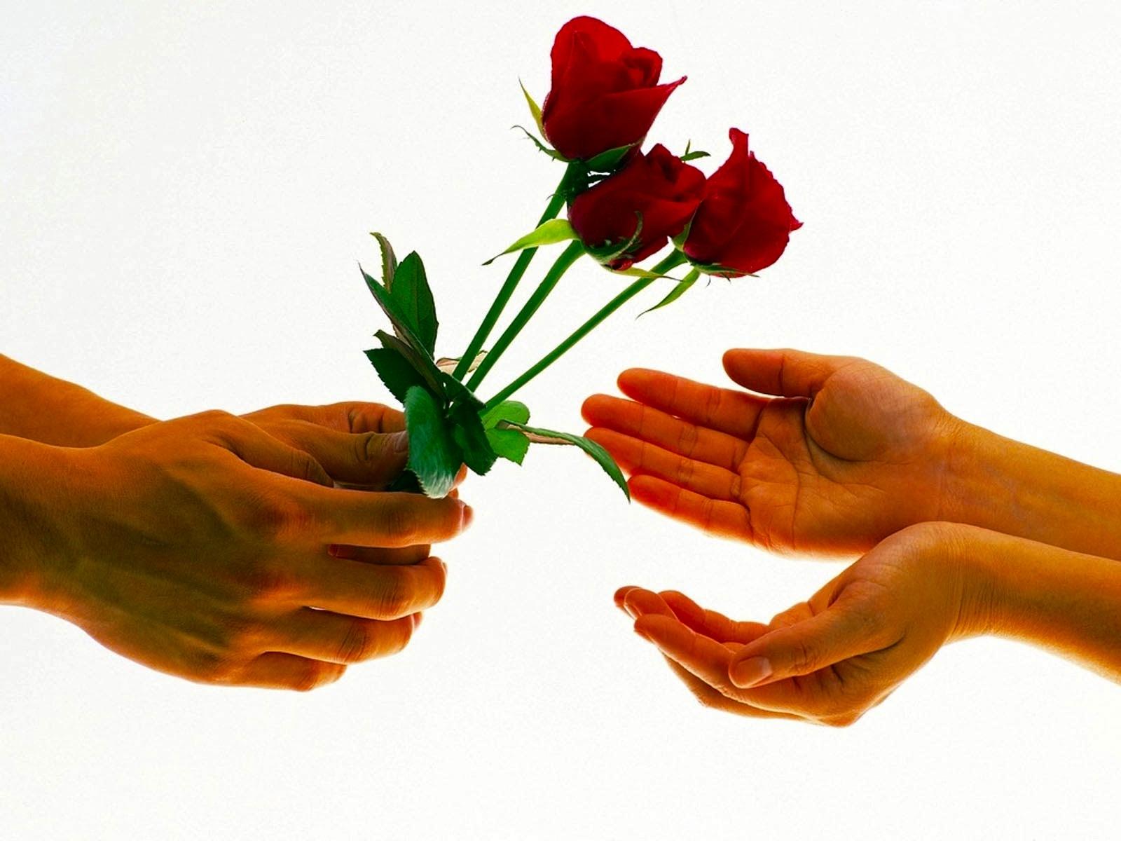 Подари парню цветы