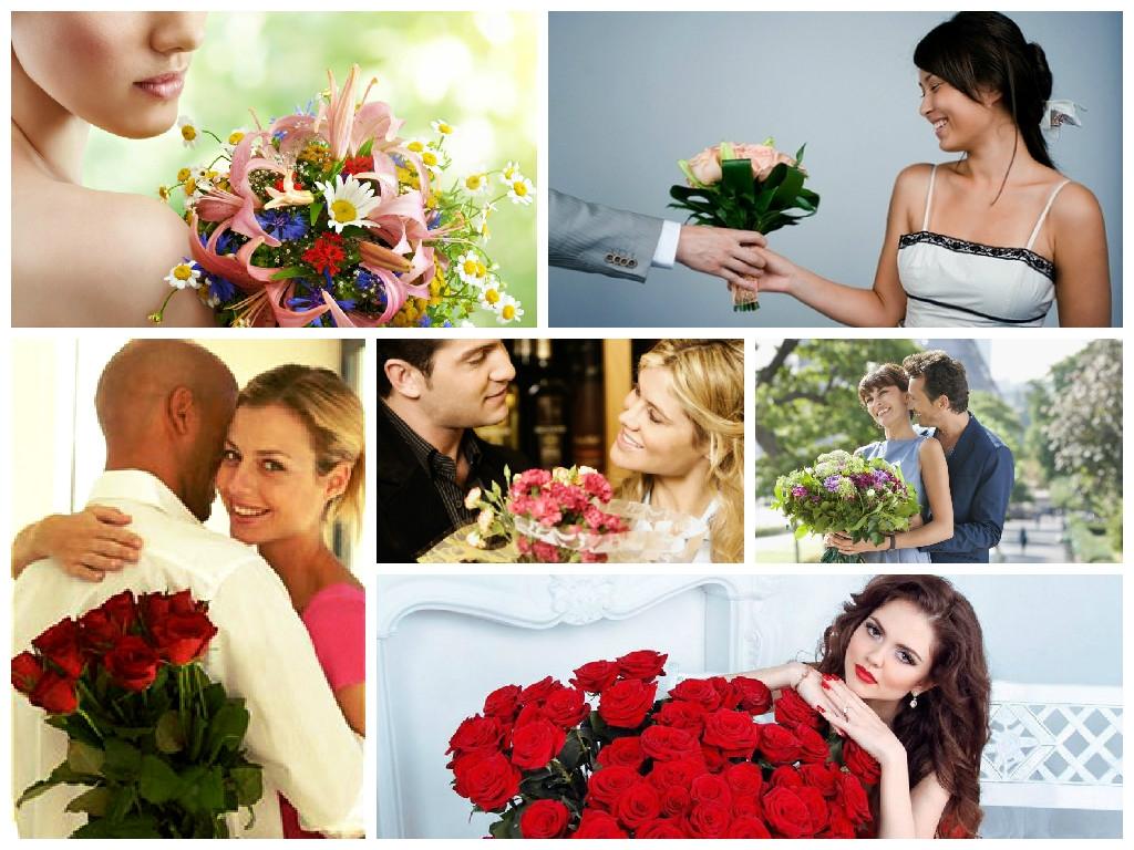 можно при цветы какие знакомстве девушке подарить